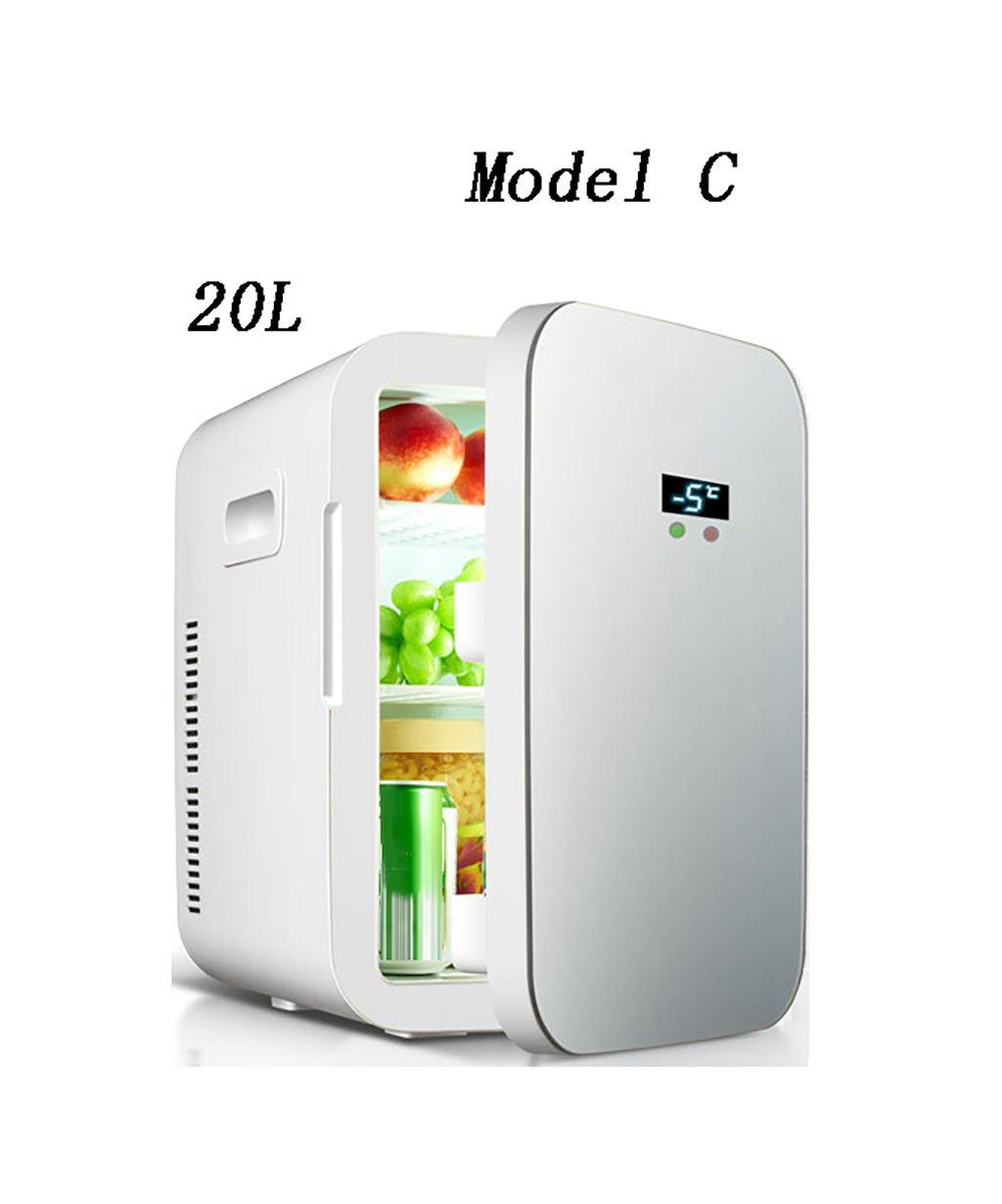 LIQICAI Elektrische Kühlbox Kühlung Auto Mini Kühlschrank Elektrische Kühlbox Kühler Warm/Cool Temperatur Einstellbar -12V DC 220V AC (Farbe : grau, größe : Model-C)