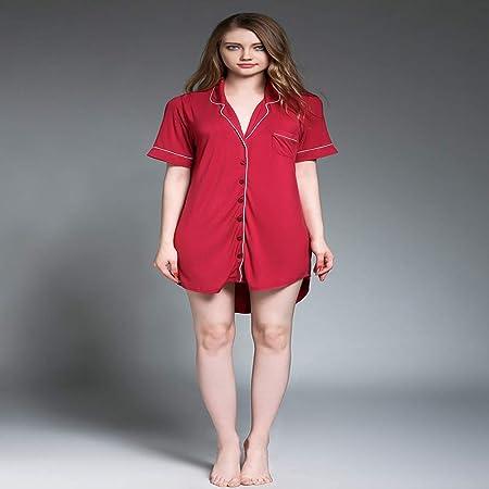 Pijama de Verano, Pijama Tipo Camisa de Manga Corta más Fertilizante para Aumentar Las Faldas Cortas.: Amazon.es: Hogar