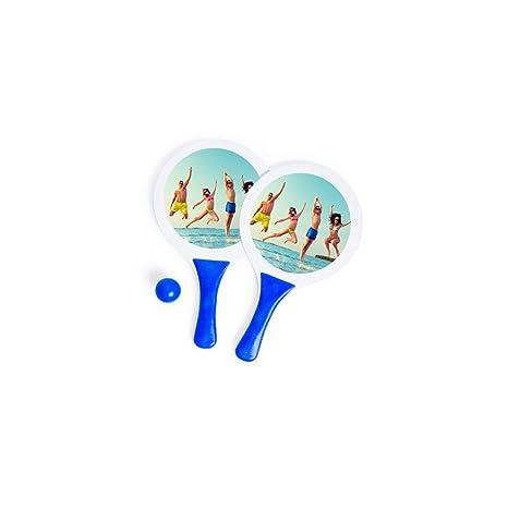 Regalo Original 2 Palas de Playa con Pelota Azul ...