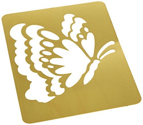 Darice Brass 3-1/4 Inch by 2-1/4 Inch Embossing Stencil, Butterfly