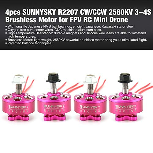 4pcs SUNNYSKY R2207 CW/CCW 2580KV 3-4S Brushless Motor for FPV RC Mini Drone by Wikiwand (Image #1)