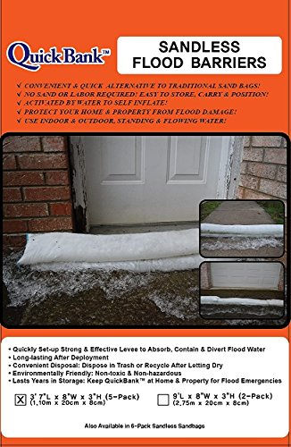 - Sandless Flood Barrier - High Capacity, 44 Inch Length, 5-Pack