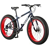 """Mongoose® Men's Dolomite 26"""" 7-Speed Fat Tire Bicycle, Blue, Bike Size: 26"""