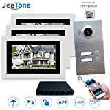 IP Video Door Phone Intercom System 7 Inch Wireless/Wired WIFI/3 Indoor Monitor For 2 Apartments Touch Screen HD 720P Outdoor Doorbell Camera