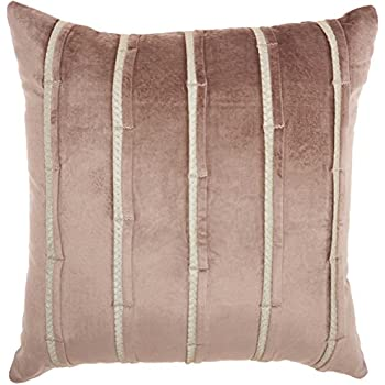 Inspire Me Home Décor Nude Pleated Pillow, 22 x 22