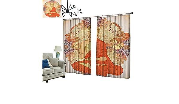 2 Paneles de Cortina con Gancho Medit Ion Aura Thai Temple Adorno Motivo Espiritual Can Bloquear la luz del Sol: Amazon.es: Hogar
