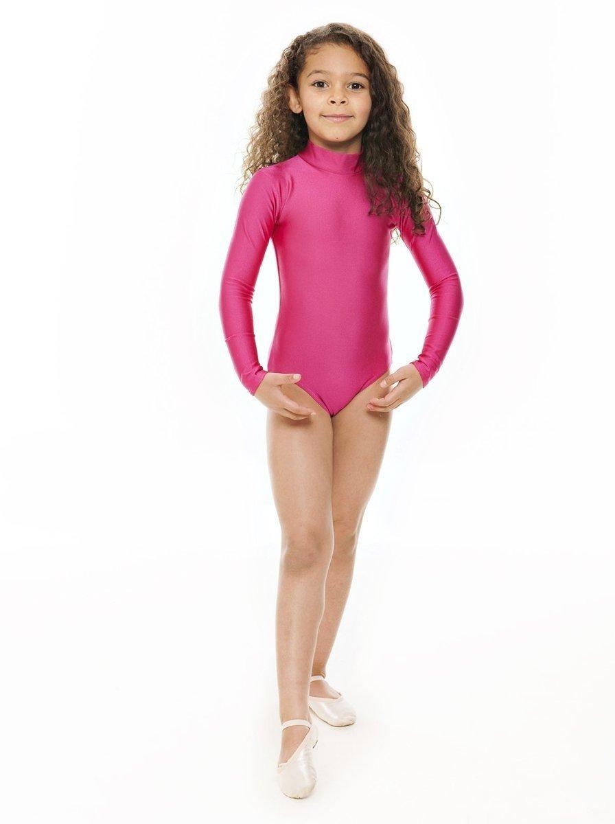 All Colours Ladies Girls Dance Gymnastics Nylon Lycra Long Sleeve Leotard KDGN019 By Katz Dancewear