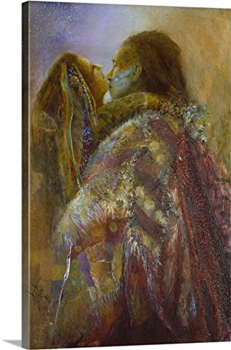 Gallery-Wrapped Canvas entitled Robe Of Many Colors by Denton Lund 16