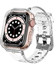 Spigen Compatible for Apple Watch Series 6/SE/5/4 Strap with Case Liquid Crystal Pro - Crystal Clear