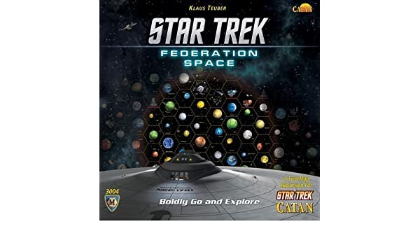 Star Trek Federacioen espacio, una expansioen Dos Mapa de Star Trek Catan por Mayfair Games [Juguete] [bienes de importacioen paralela]: Amazon.es: Juguetes y juegos