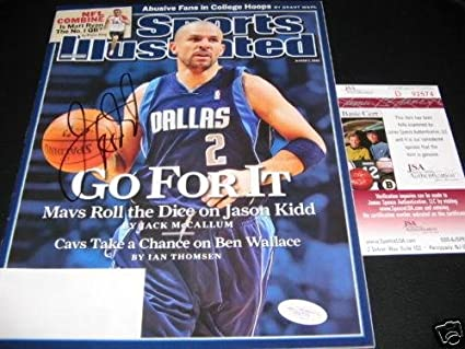 18d3539220f Jason Kidd Dallas Mavericks,hof Jsacoa Signed Sports Illustrated -  Autographed NBA Magazines