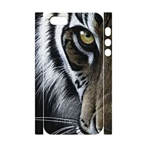 LaiMc DIY 3D Case Cover for iPhone ipod touch4 with Customized Tiger