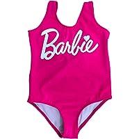 Traje de Baño Completo para Niña Bebe frase Barbie (0-3 meses, Coral fosfo)
