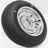 LoadStar 5-hole 12'' x4'' Chrome Modular Trailer Wheel and Tire 4.80-12 4ply