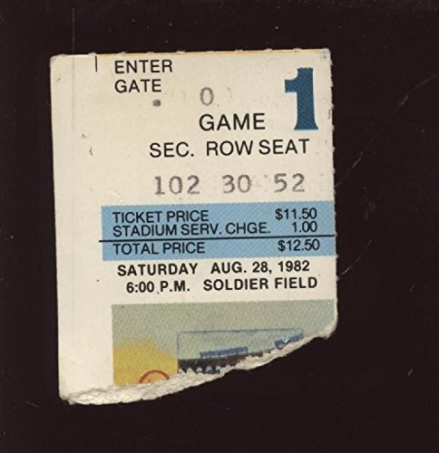1982 Chicago Bears Ticket Stub Mike Ditka 1st Game COAc