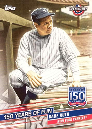 2019 Topps Opening Day 150 Years of Fun #YOF-5 Babe Ruth Yankees Baseball - Ruth Professional Baseball Babe