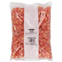 Haribo Gummi Candy, Peaches, 5-Pound Bag