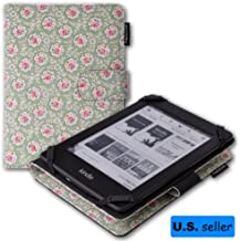 Thankscase Amazon 2013 All New Kindle Paperwhite Tea Time Flower Fabric Canvas Cover Case with Smart Cover Function with Ultra-soft Interior and Wallet Function for Kindle Touch and Kindle 4th.