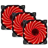 upHere 15 LED Cooling Fan for Computer Cases, CPU Coolers, and Radiators Ultra