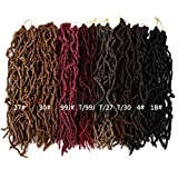New Faux Locs Crochet Hair 18 inch Most Natural