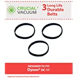 3 10-MM Geared Belts for Dyson DC17 Vacuums; Compare to Dyson Part No. 911710-01 (91171001); Designed & Engineered by Think Crucial