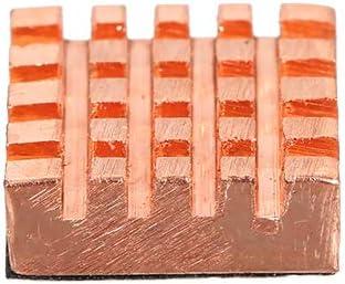 Walmeck- Aluminium/Copper Heatsink PC Cooler 1set 8 Pieces Heatsink Radiator for PC RAM CPU Northbridge Southbridge Motherboard Desktop Sound Card Cooling Heatsink 13125mm