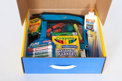 School Tool Box Fifth Grade Basic School Supplies Kit in Keepsake Box