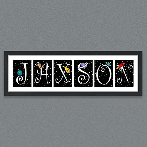 Jaxson's World 56 Outer Space Nursery Letters Prints by Jaxson's World