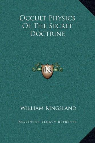 Occult Physics Of The Secret Doctrine PDF