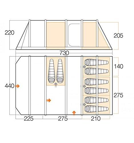 Vango Rivendale 800xl - Sky Blue - 8 Personen - Großes robustes Camping AirBeam® Tunnelzelt, 8 Personen