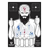 animal targets for shooting - Threat Down Terrorist Silhouette   Reactive Target   Shooting Target   Reactive Splatter Cells   Air Rifle, Pistol, Shotgun, Tomahawk, Throwing Knives