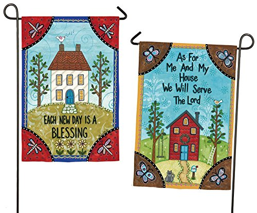 Evergreen Every New Day is a Blessing Suede Garden Flag, 12.5 x 18 - Gardens Pembroke Of Shops