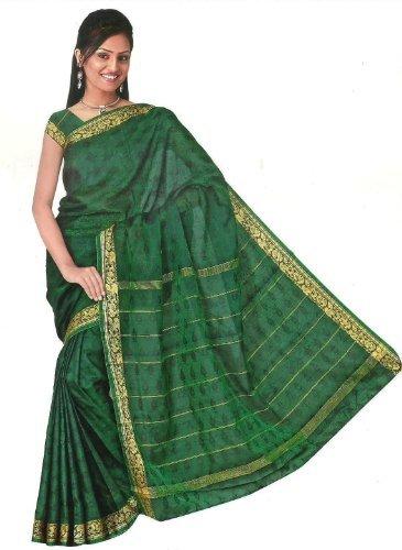 Bollywood Sari Vestido Arco Iris Verde