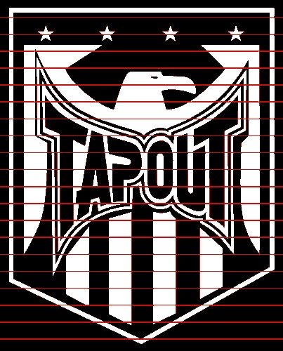 Tapout Eagle Sticker (Decal) - 6""