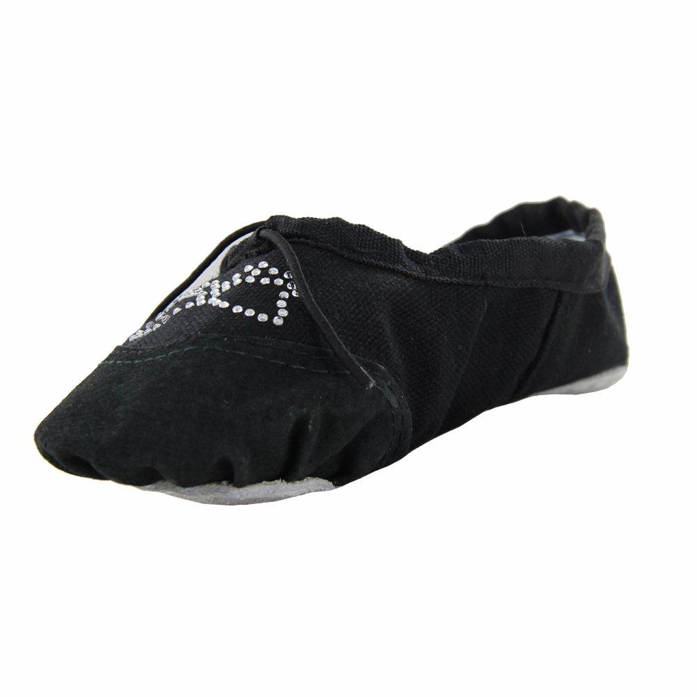 Kid Girl's Practise Ballet Dancing Yoga Shoes,Black,Little Kid,11 M US
