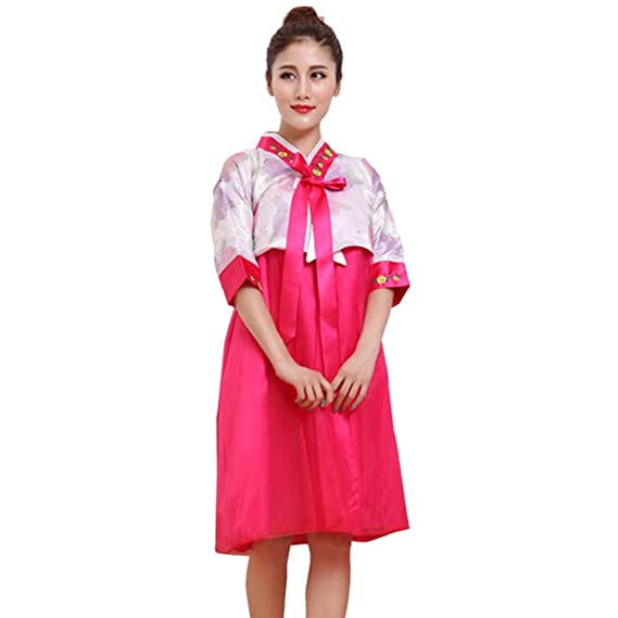 Amazon.com: BOZEVON Women Traditional Hanbok Set - Short ...
