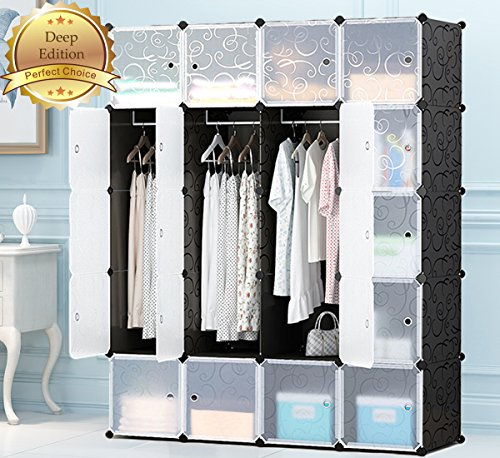 MEGAFUTURE Portable Wardrobe For Hanging Clothes,