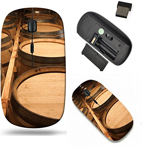 (Liili Wireless Mouse Travel 2.4G Wireless Mice with USB Receiver, Click with 1000 DPI for notebook, pc, laptop, computer, mac book IMAGE ID: 927354 Stacked Oak barrels for maturing red wine and brandy)