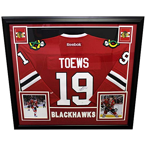 (Jonathan Toews Chicago Blackhawks Autographed Signed Deluxe Framed Reebok Jersey - JSA Authentic)