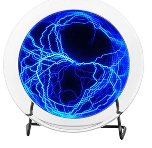 Betterjonny – 6  Plasma piatto Lumin Disk Light Show partito Home Decor rispondere alla musica o touch, colore  blu