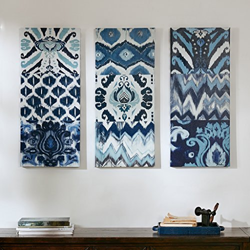 Shades of Blue  Geometric Wall Art Set Canvas Prints Pictures Decor