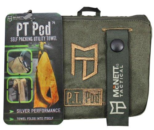 McNett Tactical PT POD Microfiber Workout Towel, Olive Drab Green, 4.5