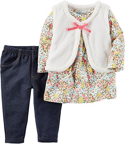 Carter's Baby Girls' Floral Shirt & Vest Set 24 Months Ridiculous Baby Outfits