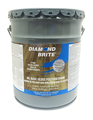Diamond Brite Paint 71000 5-Gallon Clear Gloss - Wood Finish Diamond