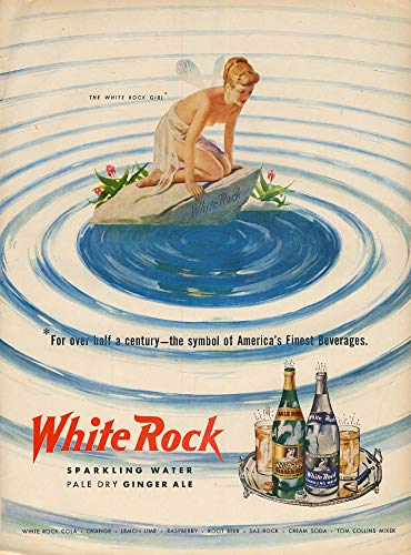The White Rock Girl symbol of America's Finest Beverages ad 1951 L