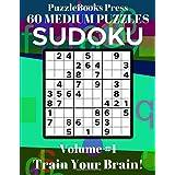 PuzzleBooks Press Sudoku 60 Medium Puzzles Volume 1: Train Your Brain!