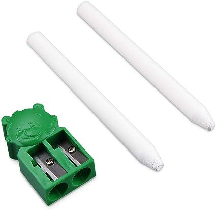 Navaris Rotuladores de tiza líquida en blanco - Pack de 2x marcadores reutilizables con borrado en seco - Para escribir en cristal pizarra metal: Amazon.es: Oficina y papelería