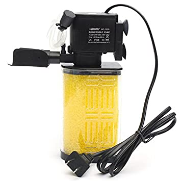 importados 13 W 800L/H Bomba Sumergible Filtro de acrílico Esponja filtro de agua interno para Acuario Pecera Estanque 75 x 55 x 185 mm: Amazon.es: ...