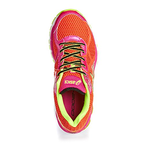 ASICS GT-2000 3 - Zapatillas de deporte para mujer Rojo (Cherry Tomato / Flash Yellow / Hot Pink 2107) (Cherry Tomato / Flash Yellow / Hot Pink 2107)