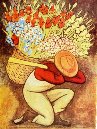 Amazon.com: El Vendedora De Flores Art Poster Print by Diego Rivera ...